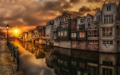 Desktop Landscape Laptops Mobile Gorinchem Canal Netherlands