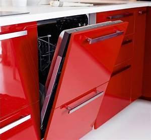 Rote Ikea Küche : einbaugeschirrsp ler mit roter front t r halb offen ikea k chen liebe pinterest ~ Markanthonyermac.com Haus und Dekorationen