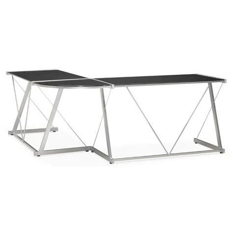 bureau design verre metal bureau d 39 angle design rovigo en verre et métal noir