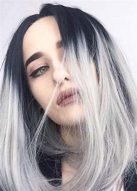 gray hair color ideas   long hair tutorial