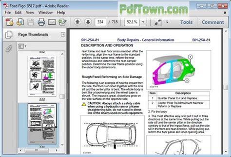 ford fiesta body  paint repair manual