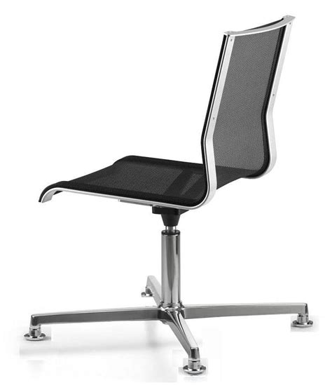swivel office chair mesh shell chrome base idfdesign