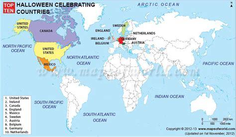 Halloween Celebrating Countries  World Top Ten