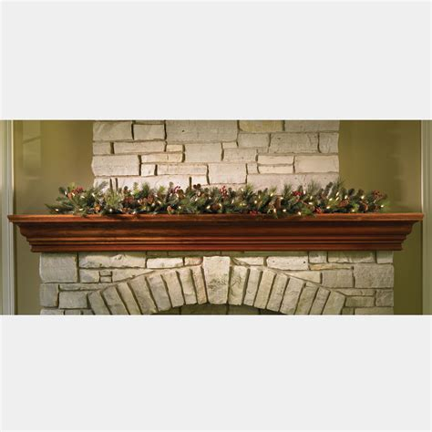 christmas garland 6 cordless pre lit decorated indoor