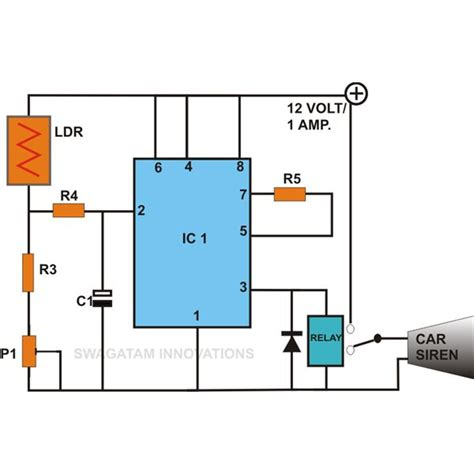 build these simple alarm circuits using ic 555 sensor and light sensor circuit