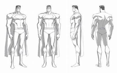 Superman Character Sheet Batman Concept Drawing Turn