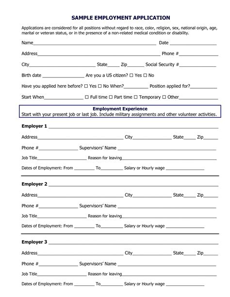Job Application Template Pdf Amplifiermountainorg