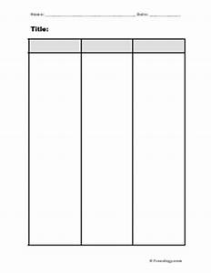 two column chart freeology With 3 column notes template