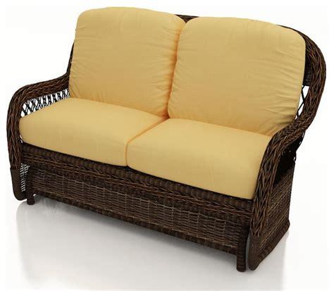 Patio Furniture Loveseat Glider by Leona Glider Loveseat Modern Outdoor Gliders Other