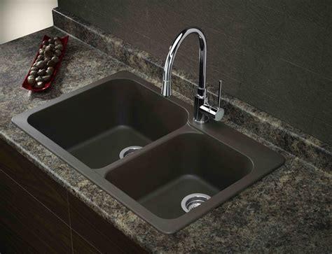 Composite Kitchen Sinks Masculine Black Kitchen Double