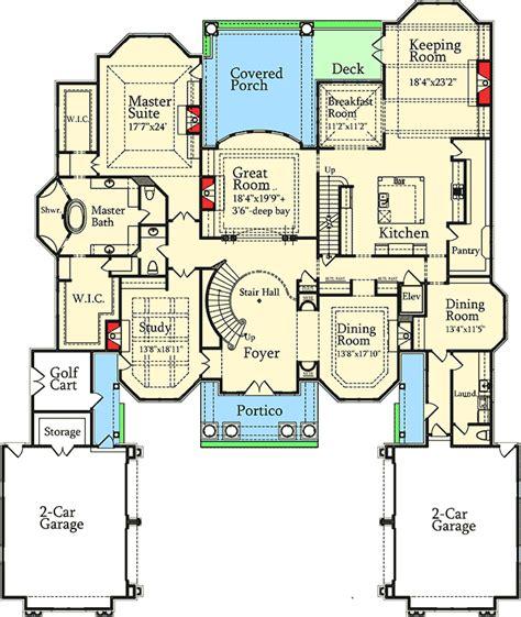 luxury  stately courtyard entry ds st floor master suite bonus room butler walk