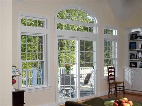 white stained wooden frame 4 glass sliding patio door