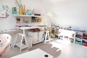 Nähzimmer Einrichten Mit Ikea : lybstes n hzimmer und workspace auf dem spitzboden lybstes ~ Orissabook.com Haus und Dekorationen