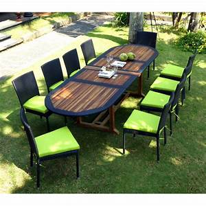 Salon Jardin Teck : salon de jardin teck et resine tressee meuble tables de ~ Melissatoandfro.com Idées de Décoration