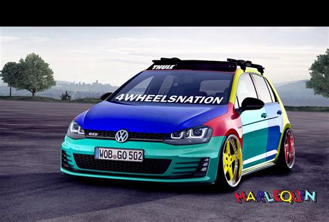 volkswagen harlequin vw golf harlequin by grmc design on deviantart