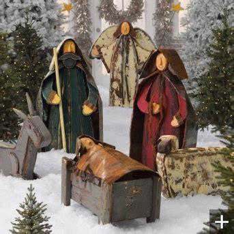 wood and tin nativity christmas pinterest