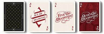 Cards Playing Deck Typography Type Fonts Diamonds