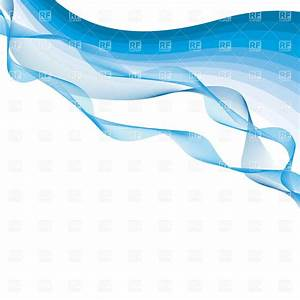 Abstract background with simple blue waves Royalty Free ...