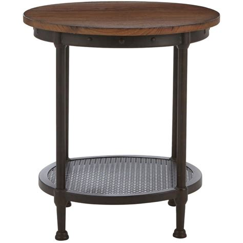 white distressed end tables home decorators collection gentry distressed oak end table 1289