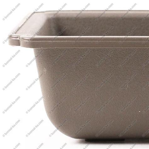 pot de culture rectangulaire plastique inject 233 brun