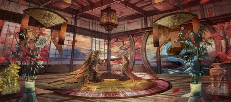 wallpaper roomscape traditional japanese room anime girl