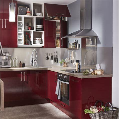 cuisines ouvertes avec bar meuble de cuisine delinia griotte leroy merlin
