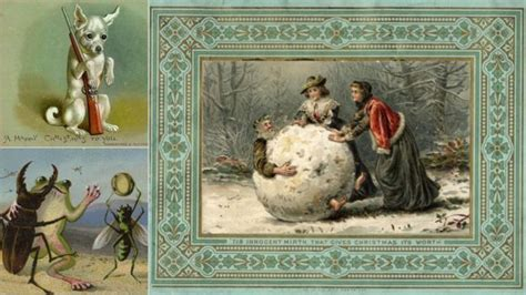 Bizarre Christmas Cards From The 19th Century