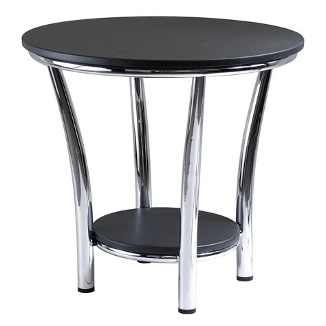 contemporary table ls amazon new contemporary round side end table modern style decor