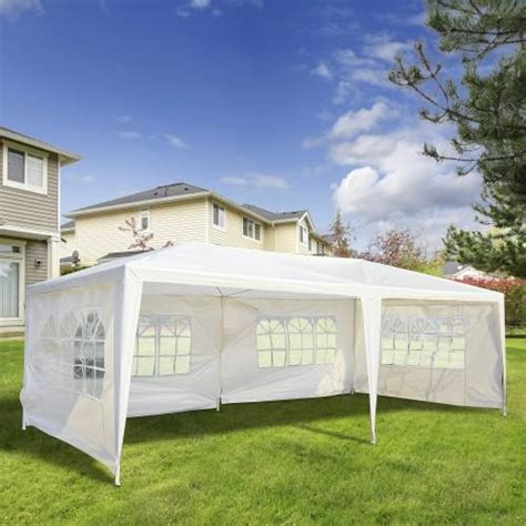 ft party tent gazebo canopy   removable walls white trendals
