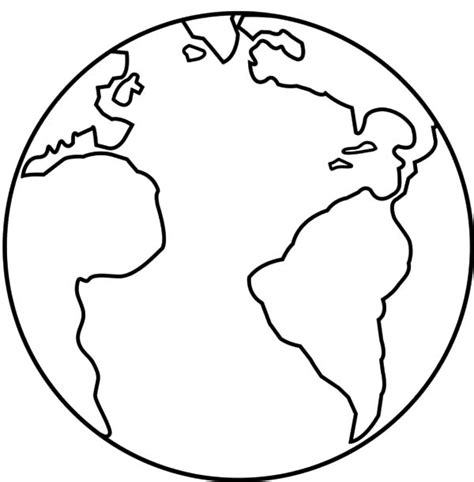 earth coloring pages earth  space coloring page earth