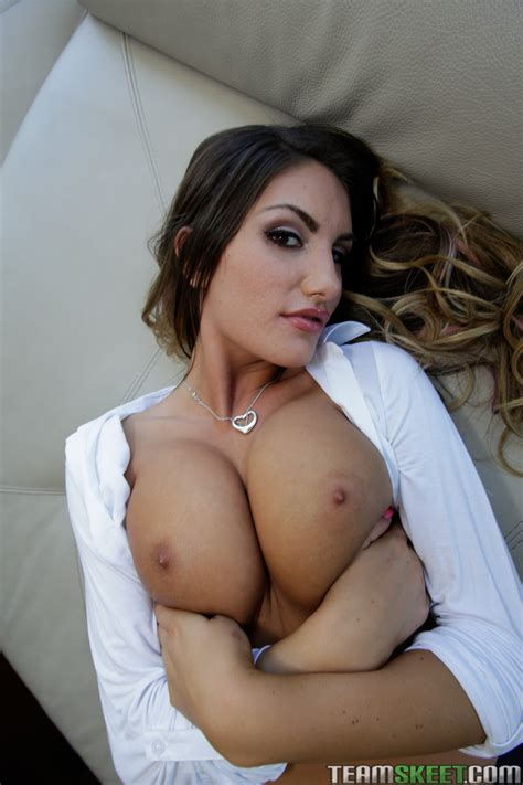 August Ames in black stockings showing her hot body and ...