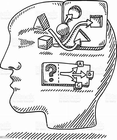 Problem Solving Drawing Logic Head Attribution Vector