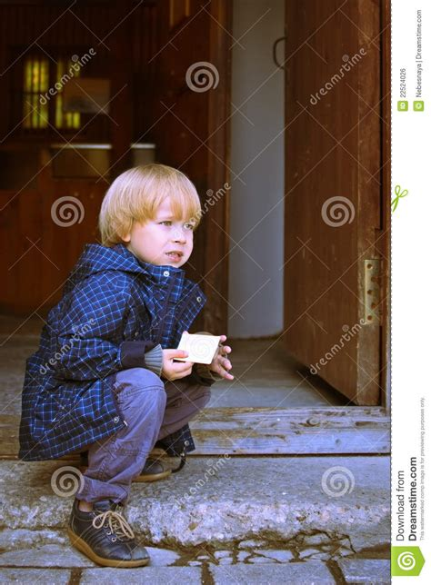 waiting child stock photo image  entry playful face