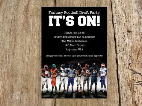 football party fantasy football draft day kick  party