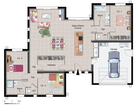 plan de maison plain pied plans maisons
