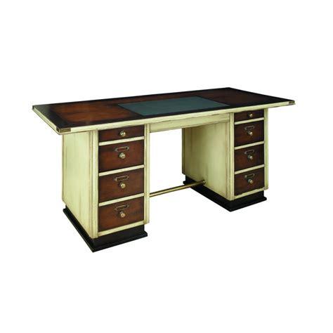 bureau bois massif blanc bureau en bois massif blanc laqué la fayette saulaie