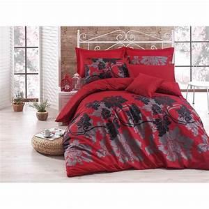 Parure De Lit Rouge : en vogue parure de lit rouge brandalley ~ Teatrodelosmanantiales.com Idées de Décoration