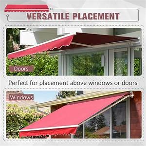 Outdoor 13 U0026 39 X8 U0026 39  Patio Awning Sun Shade Exterior Canopy