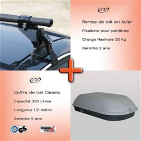 pack coffre barre de toit xsara clio 2 laguna 2 primera