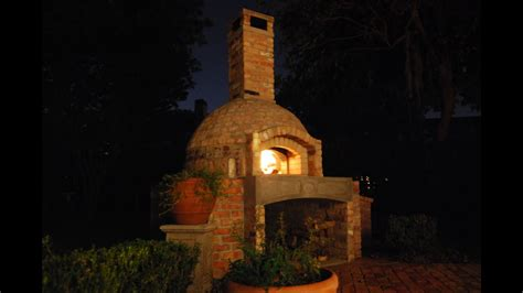 build  brick wood fired pizza ovensmoker combo