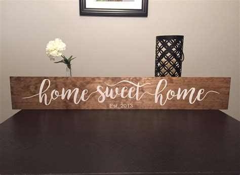 Sweet Home : Home Sweet Home 36 Wooden Sign