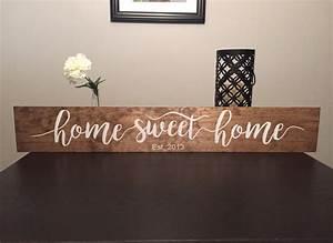 Home Sweat Home : home sweet home 36 wooden sign ~ Markanthonyermac.com Haus und Dekorationen