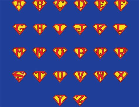 superman letters   clip art  clip