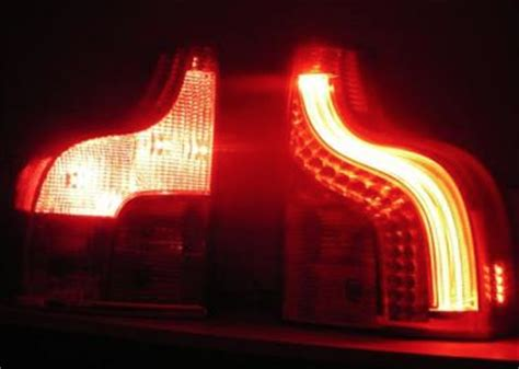 volvo xc led tail lights neon light left