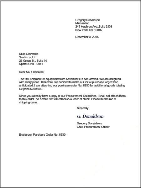 example of business letter formal business letter format official letter sample 21567 | Business letter format6 1