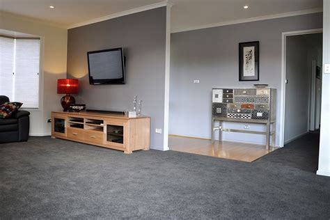 Black And Gray Living Room Carpet by Soft Grey Paintwork Complimenting The Smokey Grey Carpet