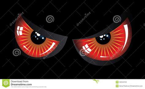 evil red eyes stock  image