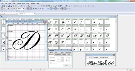 list of font creation software