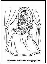 Pages Barbie Coloring sketch template