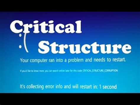 how to fix critical structure corruption on windows 10